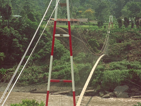 Toni Ruttimann Bridge at San Jose del Aguarico, Sucumbios, Ecuador