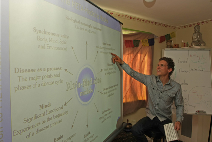Adam Oldmeadow teaching Meta Health Foundation Introduction Course Mahpiya Temple Melbourne