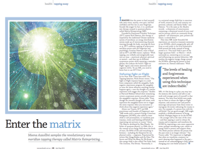Enter the matrix - nature and health magazine