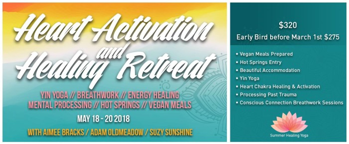 Heart Activation and Healing Retreat   Yin Yoga  Breathwork  Energy Healing