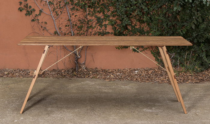 Recycled Fence Trestle Table -#MomentsbyAO - 1