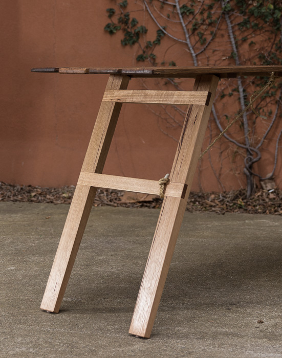 Recycled Fence Trestle Table -#MomentsbyAO - 2